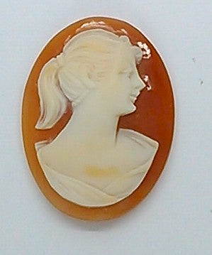 25x19mm Italian Real Shell Cameo unmounted loose Genuine Hand Carved Cameo C116