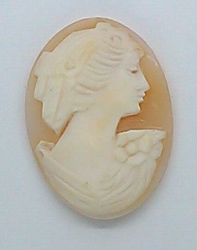 26x19mm Italian Real Shell Cameo unmounted loose Genuine Hand Carved Cameo C118