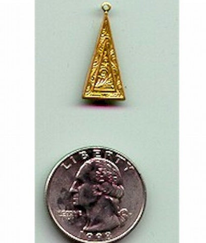 Item#g06923-1r 24mm brass triangle drop