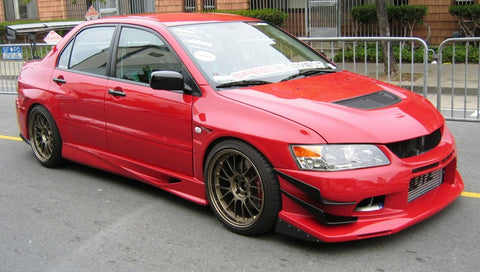 JDC Voltex Style Side Skirts 2001-2006 Mitsubishi Lancer Evolution 7-9