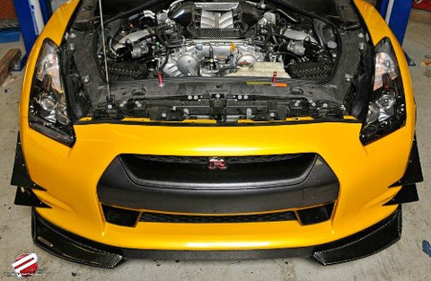 Password JDM Dry Carbon Ultimate Front Lip 2009-2012 Nissan R35 GT-R - JD Customs U.S.A