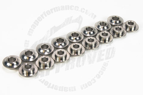 MAP TITANIUM VALVE SPRING RETAINERS, SET OF 16 (MITSUBISHI EVO 8/9) MAP EVO-TR