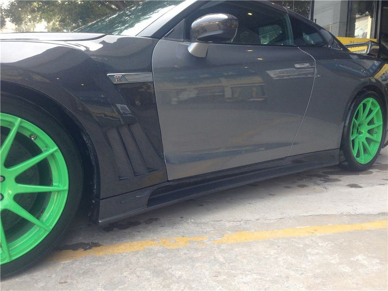 JDC TP Style FRP/CF Side Skirts (12-15 GT-R)