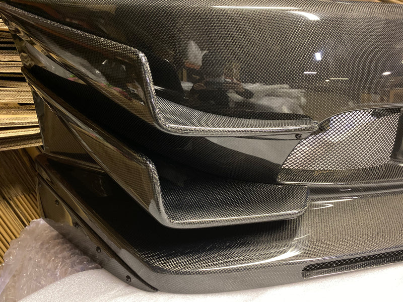 JDC Full Carbon Fiber Voltex Cyber Street Style Front Bumper (Evo 7/8/9)