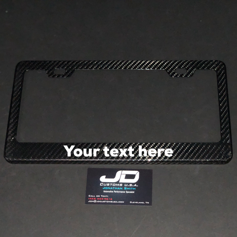 JDC Carbon Fiber License Plate Frames - JD Customs U.S.A