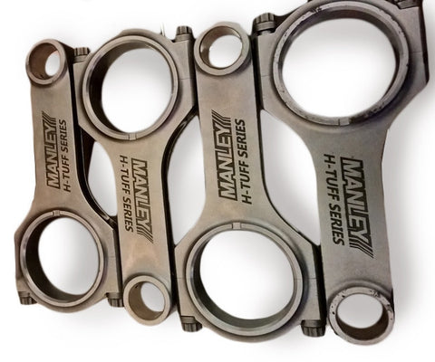 MANLEY H-TUFF SERIES CONNECTING RODS | MITSUBISHI 4G63 ENGINES (15022-4) - JD Customs U.S.A