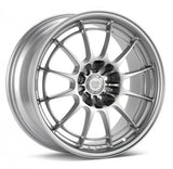 ENKEI NT03+M 18X9.5 5X114.3 27MM OFFSET 72.6MM BORE F1 SILVER WHEEL | (365-895-6527SP)