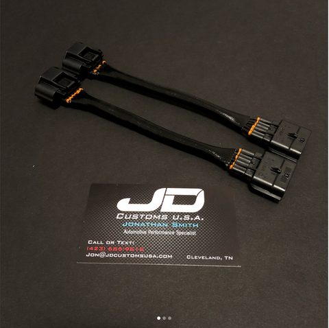 JDC GT-R Throttle Body Extension Harness Pair-Used for Forward Facing Intake Manifold - JD Customs U.S.A