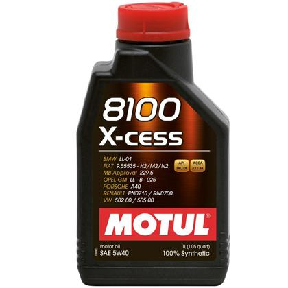 Motul 8100 X-cess 5W-40 Synthetic Gasoline and Diesel Engine Oil