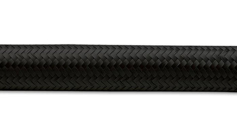 "20FT ROLL OF BLACK NYLON BRAIDED FLEX HOSE; AN SIZE: -6; HOSE ID: 0.34""; BY VIBRANT PERFORMANCE"