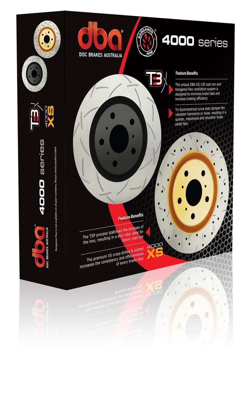 DBA HD Series 4000XS Single Drilled/Slotted Front Brake Rotor (Evo 8/9)