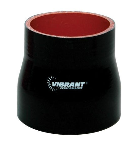 "VIBRANT 4 PLY REINFORCED SILICONE; 2.5"" to 4"" TRANSITION CONNECTOR (2928) - JD Customs U.S.A"