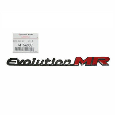 "OEM Mitsubishi ""Evolution MR"" Trunk Badge (Evo 8/9) - JD Customs U.S.A"