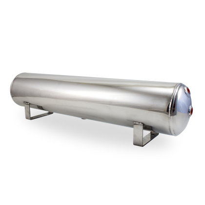 Air Lift Air Tank 4 Gallon Polished Aluminum (12955) (Universal) - JD Customs U.S.A