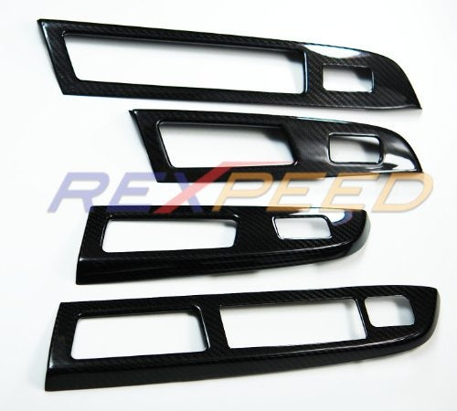 Rexpeed OE Style Dry Carbon Window Switch Panel Cover Trim (15-17 WRX/STI)
