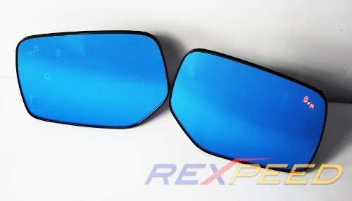 Rexpeed Polarized Blue Mirrors w/ Heated Anti Fog & Blind Spot (15-20 WRX/STI)