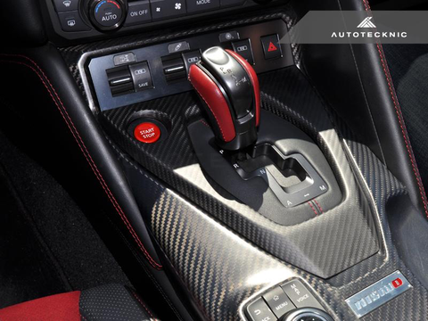 AutoTecknic Dry Carbon Shift Console Cover (17+ GT-R) - JD Customs U.S.A