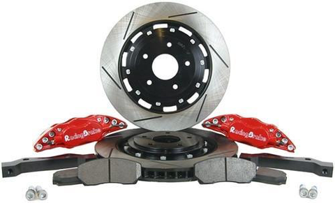 RacingBrake Big Brake Kit 4-Pot Slotted Rear (Evo 8/9) - JD Customs U.S.A