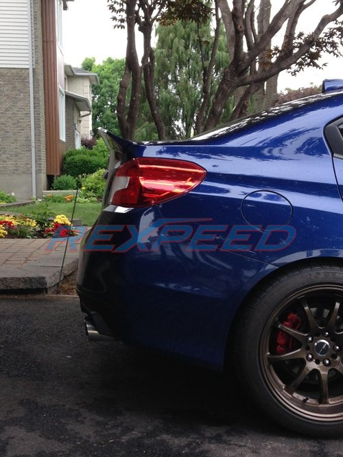 Rexpeed Duckbill Trunk Spoiler w/Carbon Strip (15-20 WRX/STI)