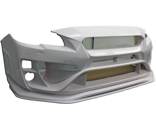 VIS VRS Style Front Bumper with Lip and Splitter (15-17 WRX/STI)