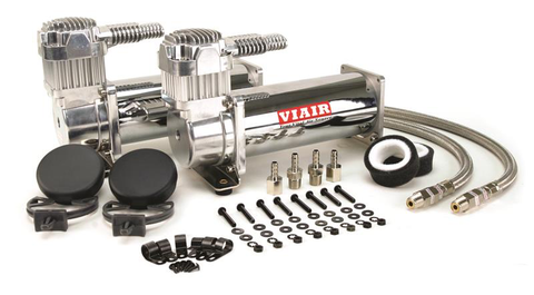 Air Lift Viair Compressor Dual Pack 444C-200PSI (23444) (Universal/Polished)