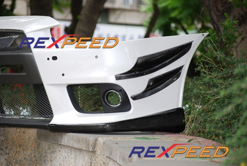 Rexpeed V-Style Carbon Fiber Canards (Evo X) - JD Customs U.S.A