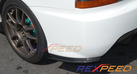 Rexpeed JDM Carbon Rear Bumper Extensions (Evo 9)