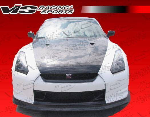 VIS Godzilla X Front Bumper with Carbon Lip (09-11 GT-R)