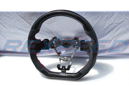 Rexpeed Carbon Fiber & Leather Steering Wheel (15-20 WRX/STI)