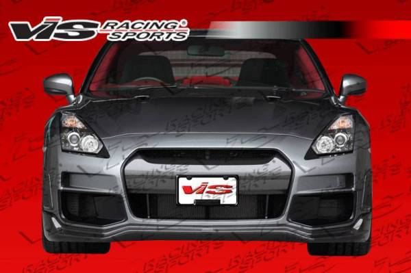 VIS TKO Front Bumper with Carbon Lip and Center (09-15 GT-R)