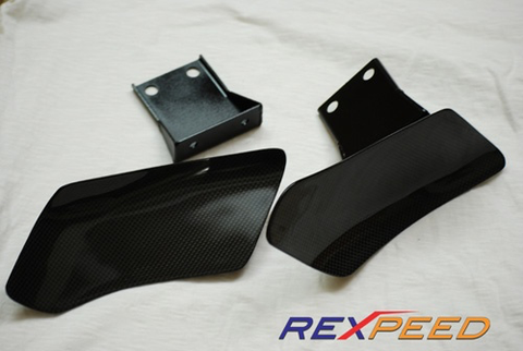 Rexpeed Carbon Fiber Brake Cooling Guides (Evo 7/8/9) - JD Customs U.S.A
