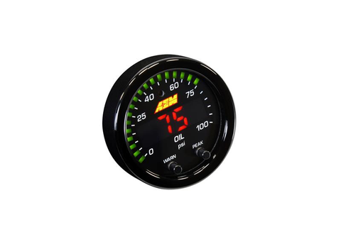 AEM X-Series Oil/Fuel Pressure Gauge - JD Customs U.S.A
