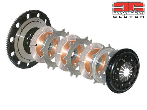 COMPETITION CLUTCH 184MM RIGID TRIPLE DISC CLUTCH KIT | 1996-2006 MITSUBISHI EVO 4/5/6/7/8/9 (4T-5152-C) - JD Customs U.S.A
