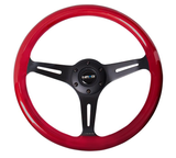 NRG Red Wood Steering Wheel w/ Black Center - JD Customs U.S.A