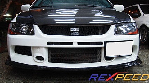 Rexpeed RA-Style Carbon Fiber Front Splitter (Evo 9) - JD Customs U.S.A