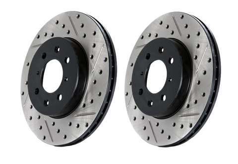Stoptech Drilled & Slotted Brake Rotors (Evo X) - JD Customs U.S.A