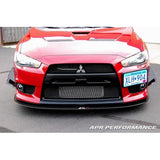 APR Mitsubishi Evolution X Front Bumper Canards 2008-Up (AB-491030)