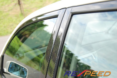 Rexpeed Carbon Fiber Pillar Trim Mitsubishi (Evo 7/8/9)