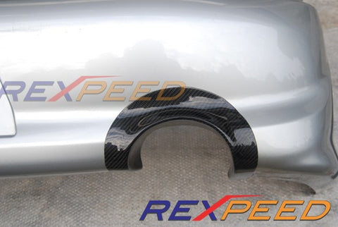 Rexpeed Carbon Fiber Exhaust Shield USDM Bumper (Evo 7/8/9)