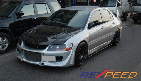 Rexpeed Carbon Fiber Side Skirt Extension (Evo 7/8/9)