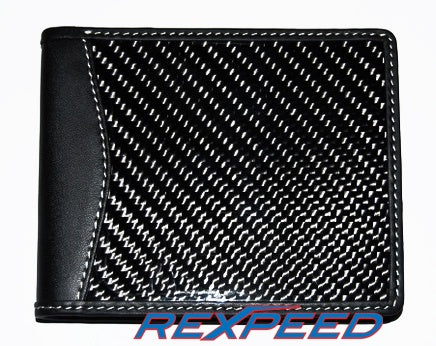 Rexpeed Carbon Fiber Leather Wallet - JD Customs U.S.A
