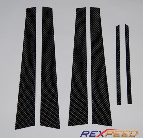 Rexpeed Carbon Fiber Pillar Trim Evo 4/5/6 (R48) - JD Customs U.S.A