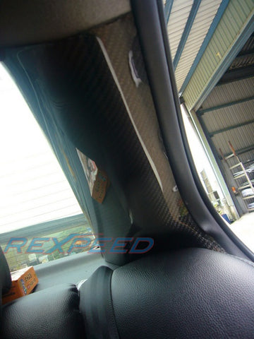 Rexpeed Carbon Fiber C-Pillars (Evo X)