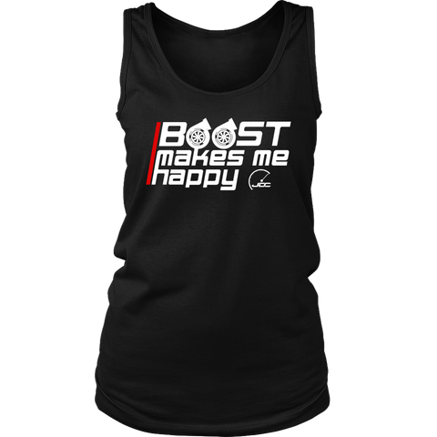 Boost Makes Me Happy Women's Tank Top - JD Customs U.S.A