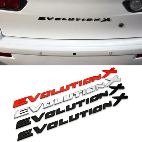 """Evolution X"" 3D Trunk Badge (Evo X) - JD Customs U.S.A"