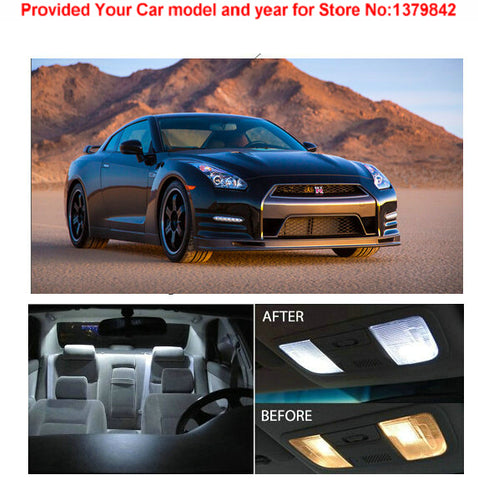 Xenon White Package Kit LED Interior Lights For Nissan GT-R 2009 & Up