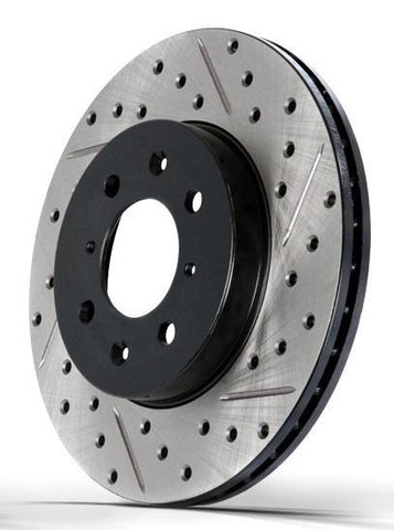 StopTech Drilled and Slotted Sport Rotors Evo 8/9 (Front)