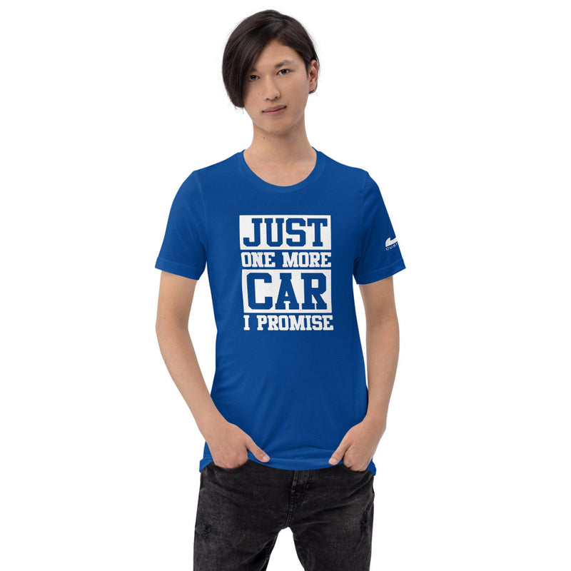 "JDC ""Just one more car I promise 🤞"" T-shirt"