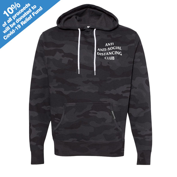 Anti Anti-Social Distancing Club Black Camo Hooded Pullover