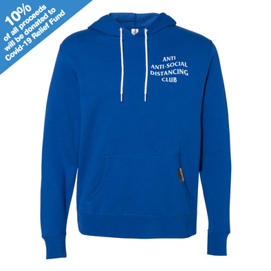 Anti Anti-Social Distancing Club Cobalt Hooded Pullover